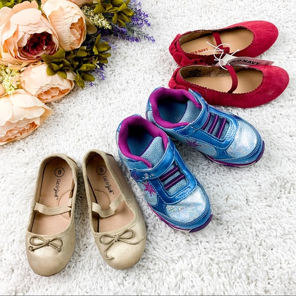 Disney Other - Girls Ballet Flats, Frozen Sneakers bundle | 8